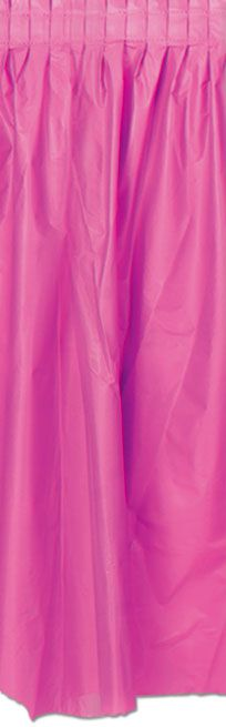 Hot Pink Solid Colour Table Skirting 70cm x 4.2m
