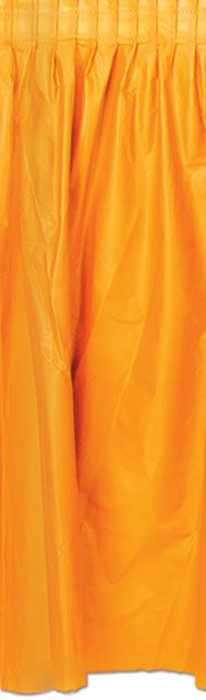 Orange Solid Colour Table Skirting - 70cm x 4.2m