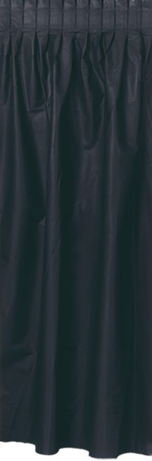 Click to view product details and reviews for Black Solid Colour Table Skirting 42m.
