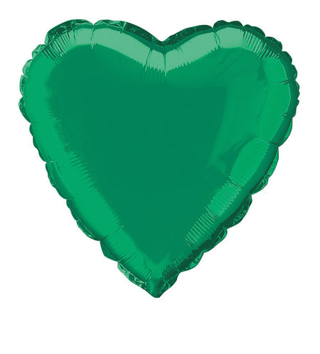 Click to view product details and reviews for Green Heart Shaped Foil Balloon 18.