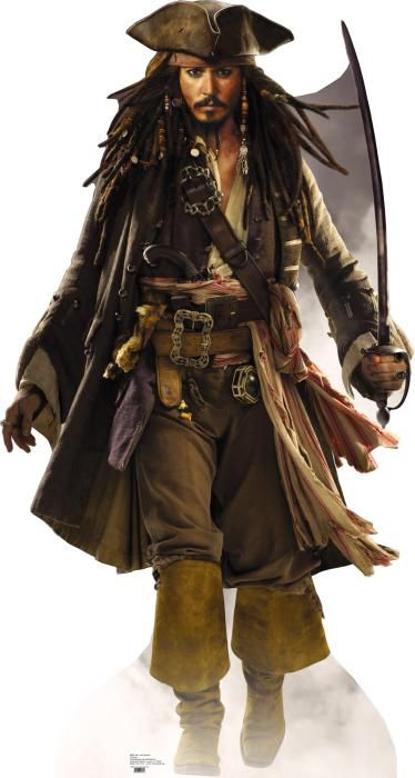 Captain Jack Sparrow Lifesize Cardboard Cutout - 1.84m