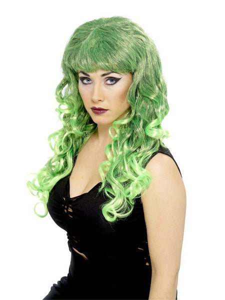 Long Green Curly Siren Wig
