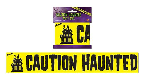 Caution Haunted Warning Tape - 6.1m