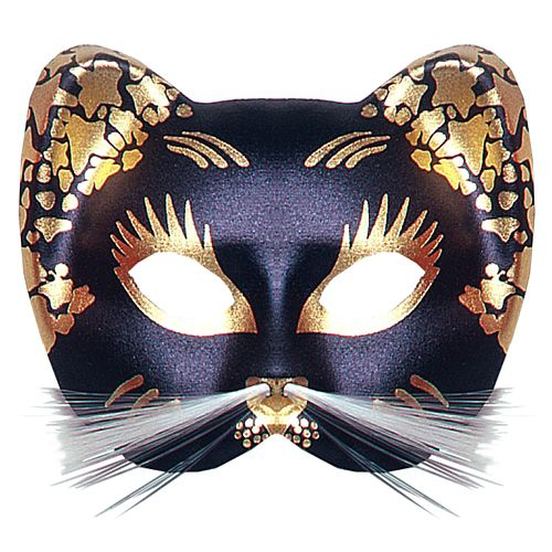 Black & Gold Cat Mask