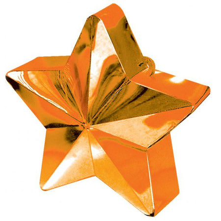 Orange Star Balloon Weight - 6oz - 10cm