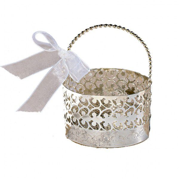 Favour Basket With Bow - 8.5cm