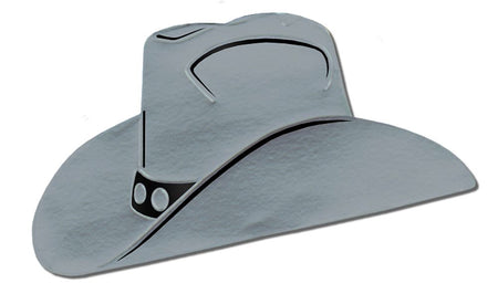 Click to view product details and reviews for Silver Foil Cowboy Hat Silhouette 19.