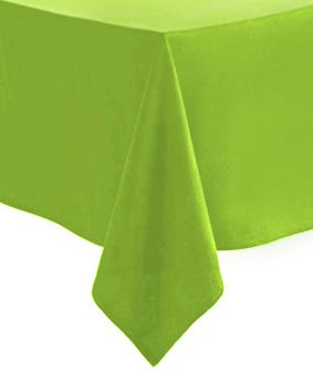 Lime Green Paper Tablecloth 1.4m x 2.8m