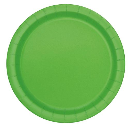 Lime Green Plates - Each - 9""