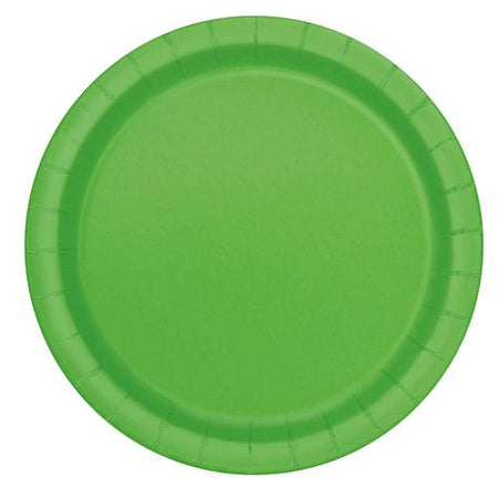 Lime Green Plates - Each - 9