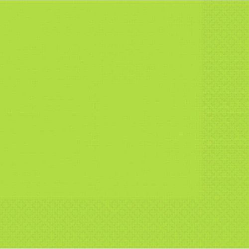 Lime Green Luncheon Napkins - Pack of 50 - 33cm