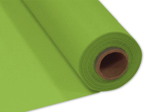 Lime Green Plastic Table Roll - 30.5m x 1m