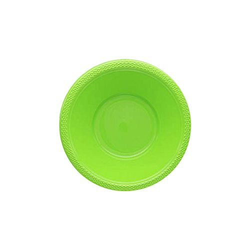 Lime Green Plastic Re-Usable Bowls - Pack of 20 - 355ml