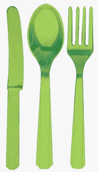 Lime Green Cutlery - Pack of 24