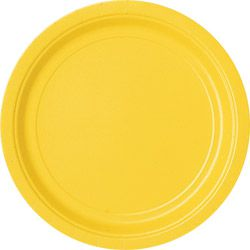 Golden Yellow Plates 23cm