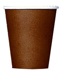 Chocolate Colour Cups 266ml (each)