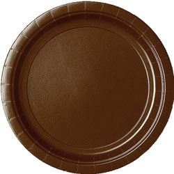 Chocolate Paper Plates - Each - 9""