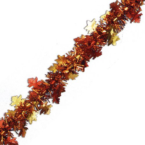 Metallic Autumn Leaf Garland 12ft
