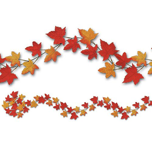 Autumn Leaf Fabric Garland - Assorted Designs - 1.83m - Each