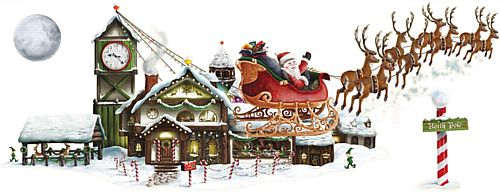 Santa's Sleigh & Workshop Props - 1.57m