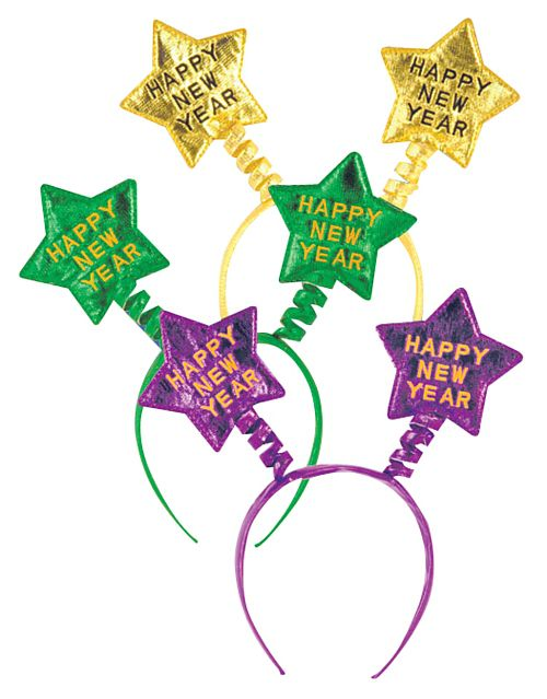 Happy New Year Head Boppers - Assorted Colours