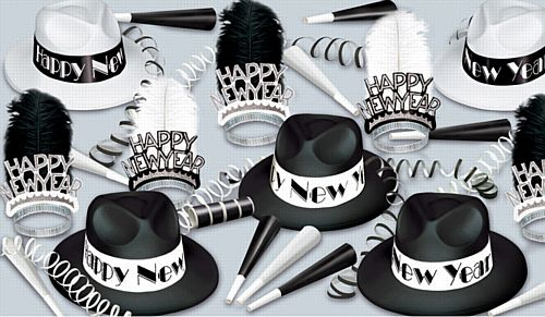 Chicago Swing Hat and Novelty Party Pack For 10 People