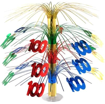 Click to view product details and reviews for 100th Birthday Cascade Centrepiece 18ins.