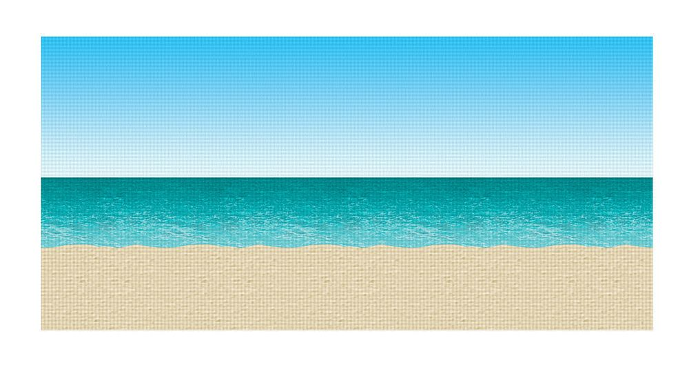Blue Sky, Ocean & Sand Backdrop 30ft
