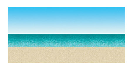 Click to view product details and reviews for Blue Sky Ocean Sand Backdrop 30ft.