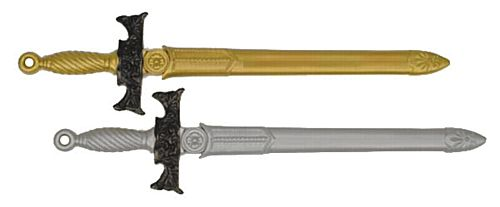 Plastic Sword - Assorted Gold & Silver - 65cm