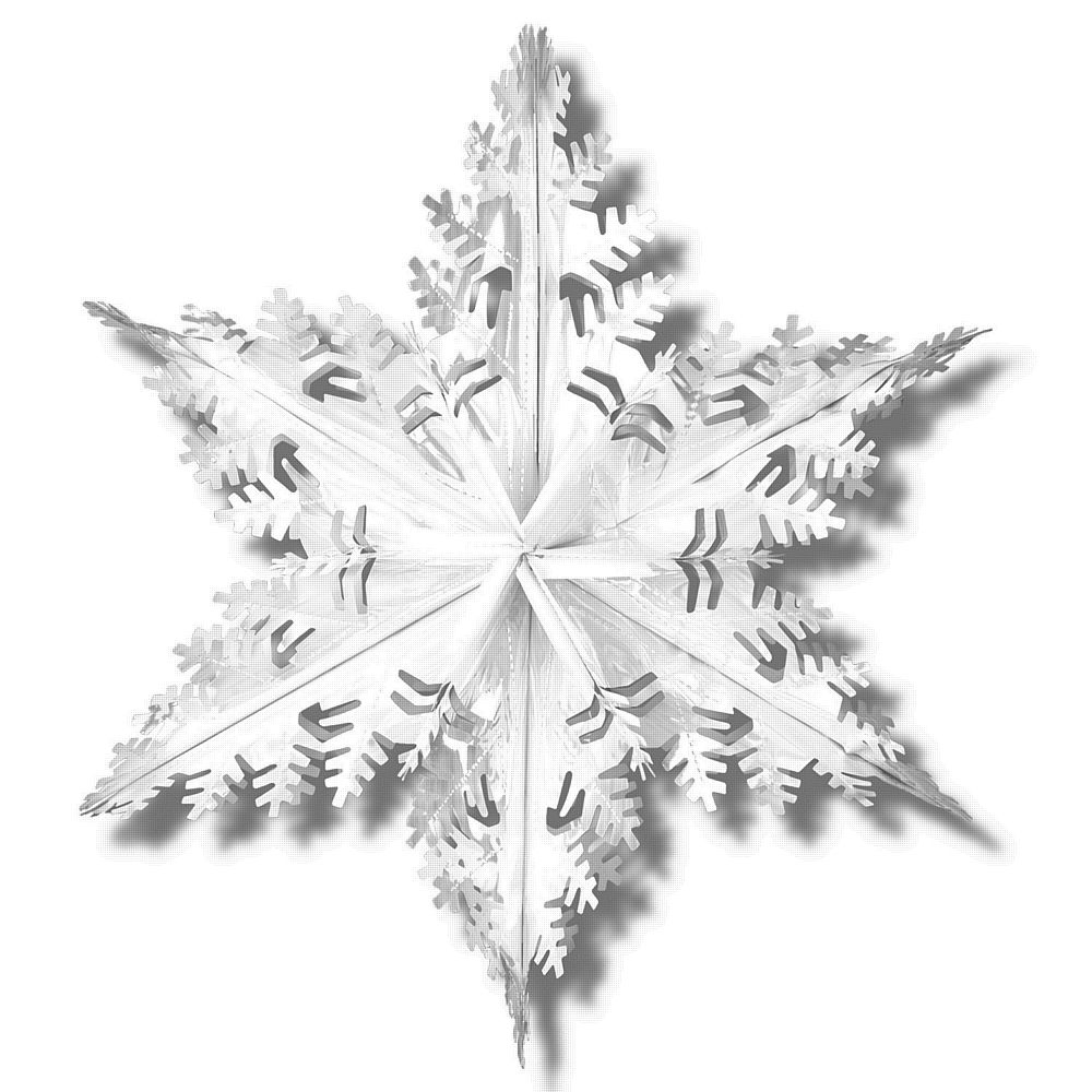 Silver Metallic Winter Snowflake - 24ins