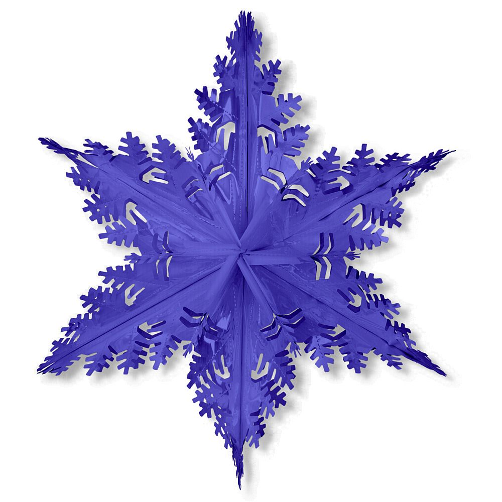 Blue Metallic Winter Snowflake - 24ins