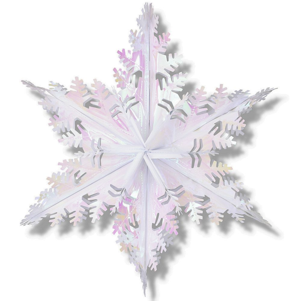 Opalescent Metallic Winter Snowflake - 24ins