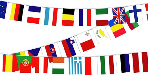 European Union Countries Cloth Flag Bunting - 28 flags - 8m