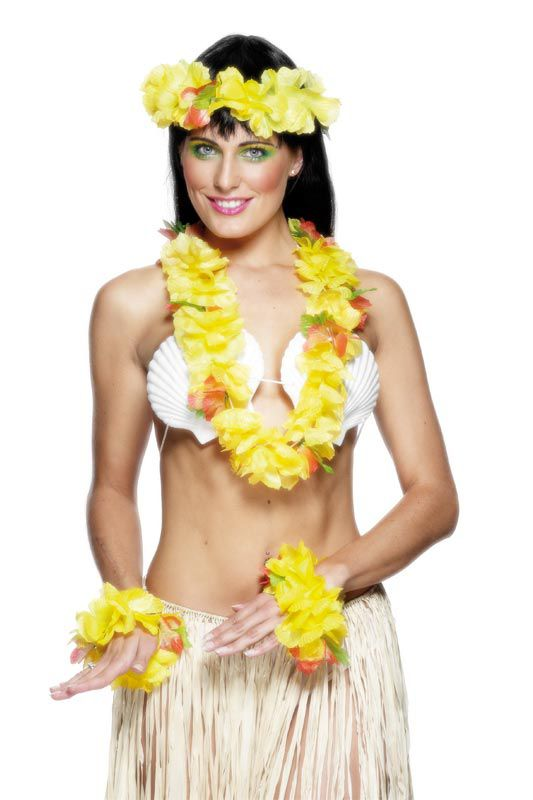 Hawaiian 4 Piece Set - Yellow