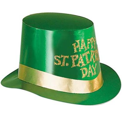 St. Patrick's Day Glitter Hi-Hat Top Hat