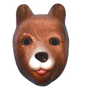Children's Plastic Bear Mask