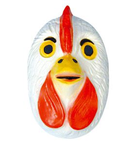 Chicken Mask - Plastic - Child's