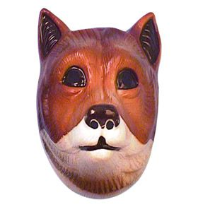 Children's Plastic Fox Mask