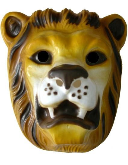 Children's Plastic Lion Mask