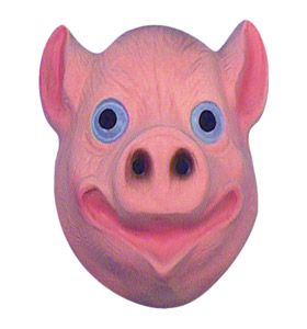 Children's Plastic Pig Mask