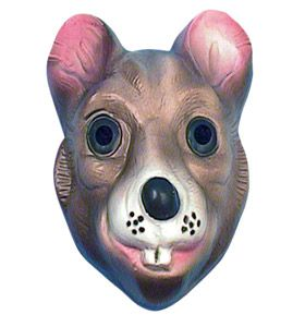 Children's Plastic Rat Mask