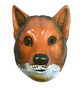 Adult Plastic Fox Mask
