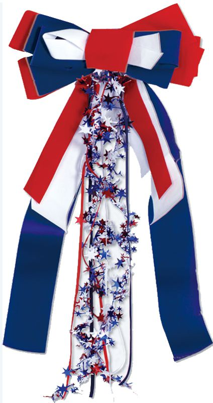 Red, White & Blue Patriotic Pride Ribbon - 68cm