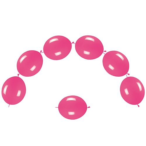 "Hot Pink Fashion Link-O-Loons 12"" - Pack of 25"