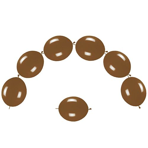 "Chocolate Fashion Link-O-Loons 12"" - Pack of 25"