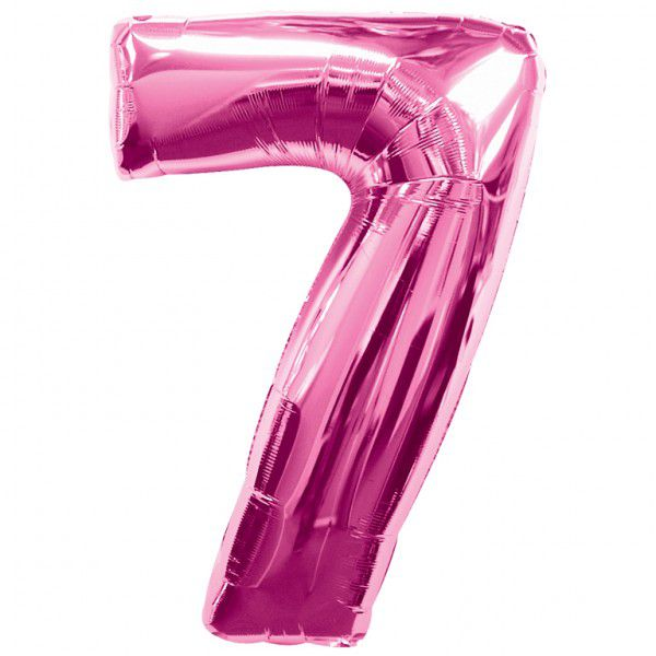 Pink Number 7 Foil Balloon - 35""