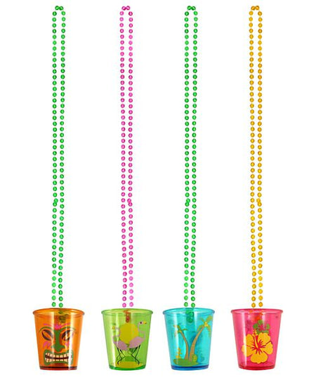 Click to view product details and reviews for Hawaiian Shot Glass On Bead Chain 82cm Each.