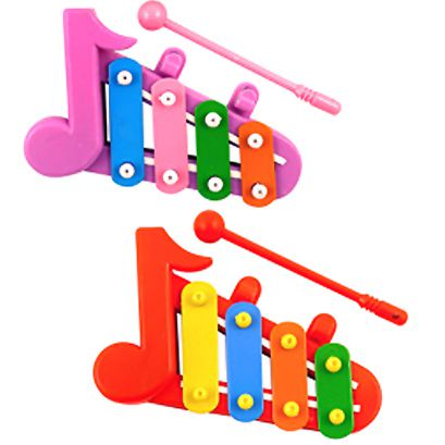 Mini Xylophone Assorted Colours - Each