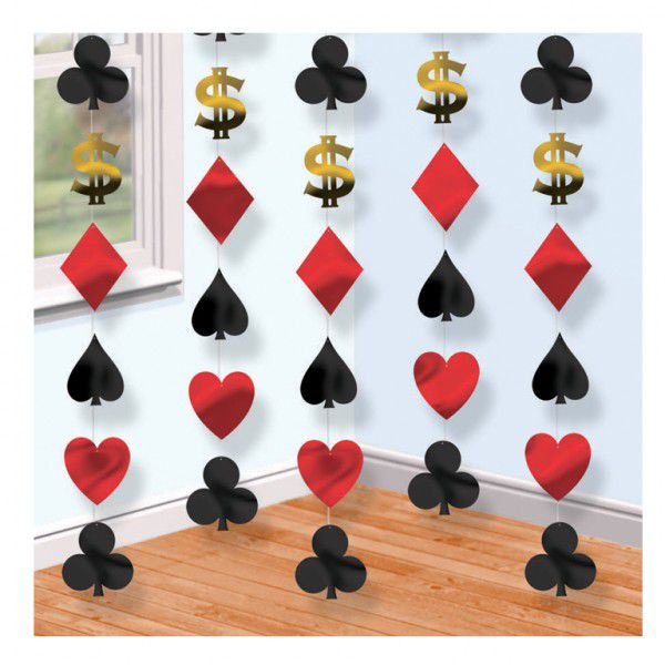 Casino Card Suit String Decoration 2.1m
